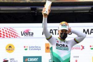 Il fuoriclasse slovacco Peter Sagan sul podio di Matarò