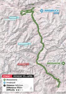 Stage 1 - Bressanone - Innsbruck