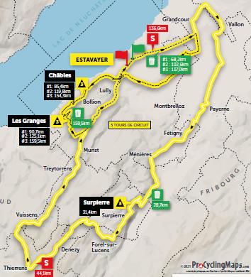 Tour de Romandie Stage 3 Estavayer - Estavayer