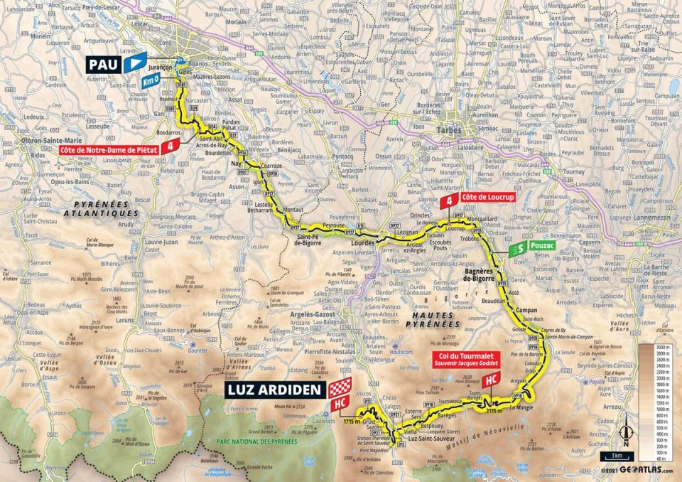 Stage 18: Pau - Luz Ardiden